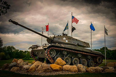 Photograph - Allen Co Veterans Memorial by Gene Sherrill