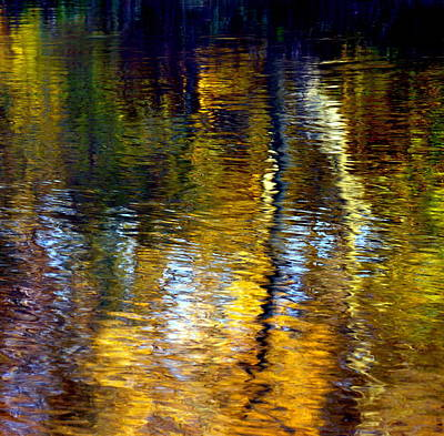 Photograph - Water Show - Gold Square by Jacqueline M Lewis
