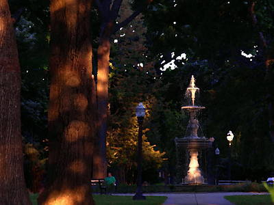 Photograph - Allentown Pa Dusk At West Park by Jacqueline M Lewis