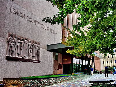 Photograph - Allentown Pa Lehigh County Courthouse With Frieze by Jacqueline M Lewis