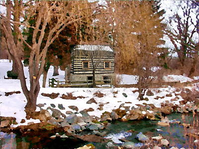 Photograph - Allentown Pa Trexler Park Springhouse In Winter by Jacqueline M Lewis