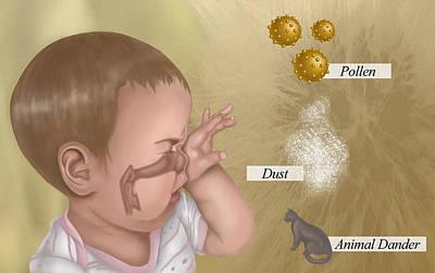 Photograph - Allergies, Illustration by Krystal Thompson