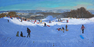 Piste Painting - Allestree Park Derby by Andrew Macara