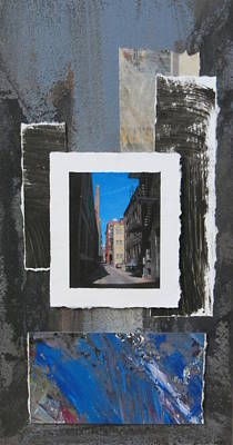 Mixed Media - Alley 3rd Ward And Abstract by Anita Burgermeister
