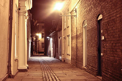 Alley At Night Art Print by Tom Gowanlock