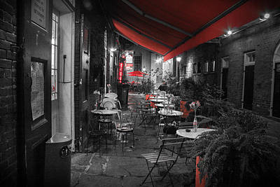 Photograph - Alley Cafe by Jeff Mize