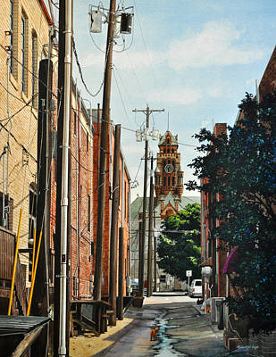 Painting - Alley Cat by Robert W Cook