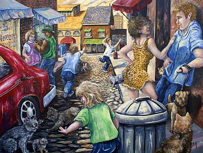 Painting - Alley Catz by Gail Butler