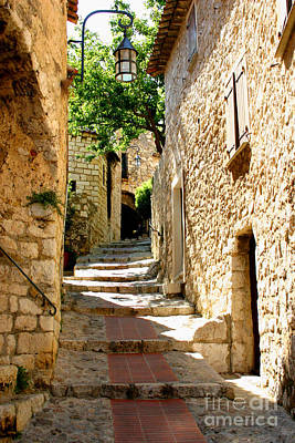 Photograph - Alley In Eze, France by Holly C. Freeman