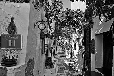 Alley In Ios Town Print by George Atsametakis