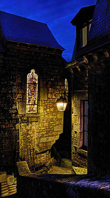 Photograph - Alley In Mont Saint Michel by Weston Westmoreland