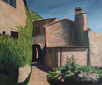 Provence Mixed Media - Alley In The Provence by Christiane Schulze Art And Photography