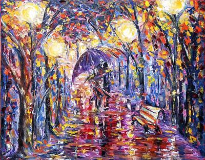 Alley Of Love Art Print by Helen Kagan