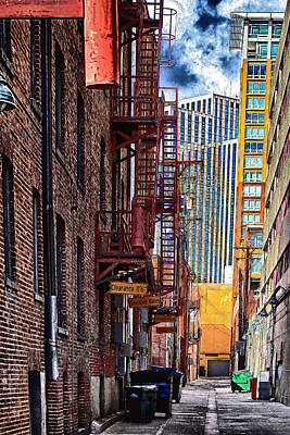 Fireescape Photograph - Alley by Scott Ballinger