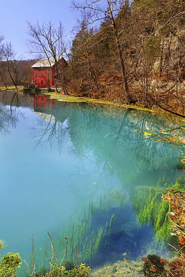Photograph - Alley Spring And The Mill - Missouri - National Historic Site by Jason Politte