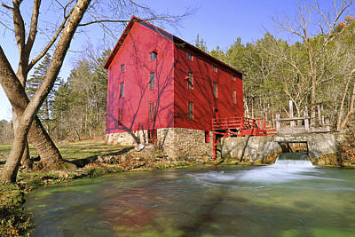 Photograph - Alley Spring Grist Mill - Missouri - National Historic Site by Jason Politte