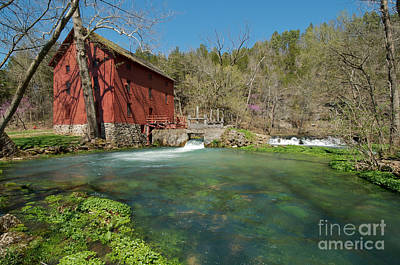 Alley Spring Mill Print by Chris  Brewington Photography LLC