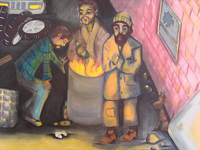 Optimistic Drawing - Alley Tenors by Heather Hilliard