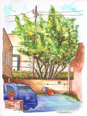 Alley With A Car In Olsen And Sunset Blvd - West Hollywood - California Art Print by Carlos G Groppa