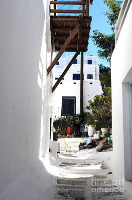 Photograph - Alleys Of Mykonos by Haleh Mahbod