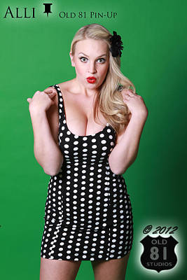 Pins Photograph - Alli In Polka Dots Old 81 Pinup 2012 by JC Kirk