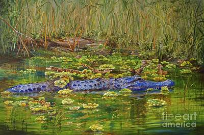 Painting - Alligator Pod by AnnaJo Vahle