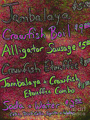 Alligator Sausage For Two Dollars 20130610p68 Art Print by Wingsdomain Art and Photography
