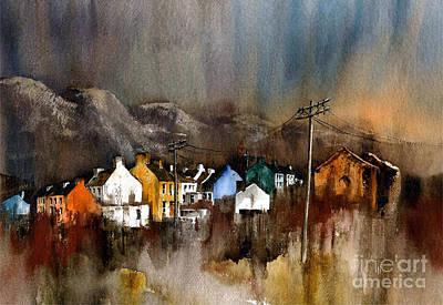 Painting - Allihies Dusk  Beara Cork by Val Byrne