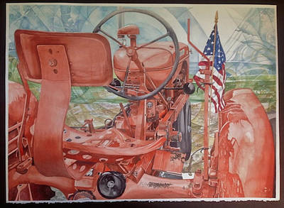 Painting - Allis Chalmers by Lance Wurst