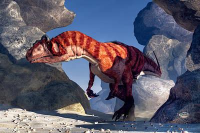 Dino Digital Art - Allosaurus by Daniel Eskridge