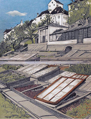 Litho Digital Art - Allotment Munich 1902 by Walther Georgi