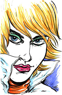 Lipstick Drawing - Allure by John Ashton Golden