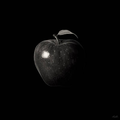 Apple Digital Art - Alluring Red In Monochrome by Lourry Legarde