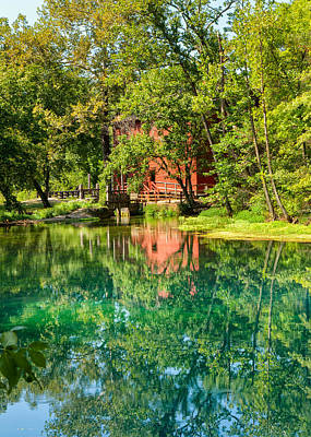 Ally Photograph - Ally Spring And The Red Mill by John M Bailey