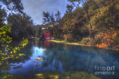Ozark National Riverways Photograph - Ally Springs Mill  The Fall by Larry Braun