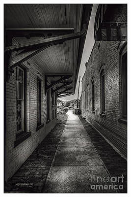 Old Brick Building Photograph - Alley To The Trains by Marvin Spates