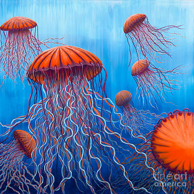 Painting - Ally's Orange Jellies by Rebecca Parker