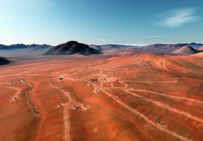 Chilean Photograph - Alma Radio Astronomy Observatory by Alma (eso/naoj/nrao)/l. Calcada (eso)