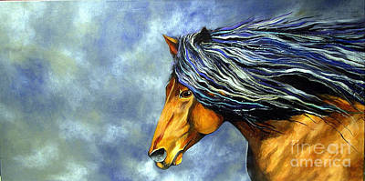 Art Print featuring the painting Almanzors Glissando  by Alison Caltrider