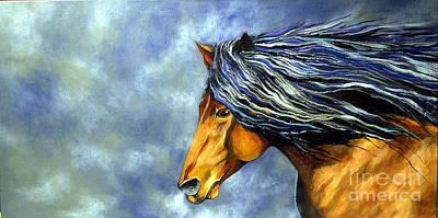 Peruvian Horse Painting - Almanzors Glissando  by Alison Caltrider