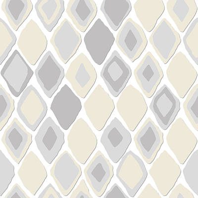 Pattern Drawing - Almas Diamond Pure by Sharon Turner