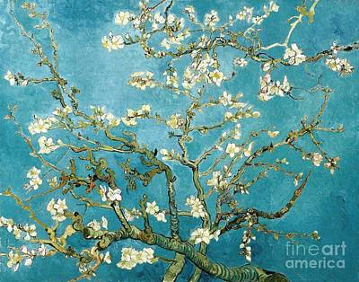 Van Gogh Blossoming Almond Tree Painting - Almond Blossom  by Pg Reproductions