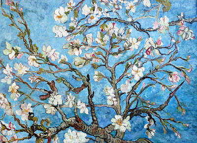 Painting - Almond Blossoms  by Tom Roderick