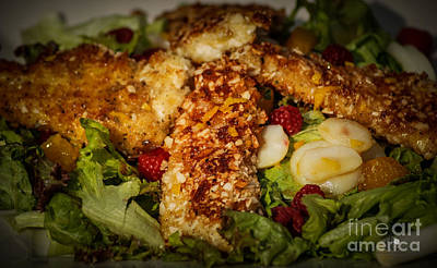 Photograph - Almond Encrusted Chicken Salad 2 by Ronald Grogan