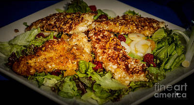 Photograph - Almond Encrusted Chicken Salad by Ronald Grogan