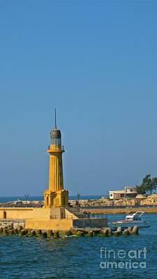 Lovely Lavender - Almontazah Lighthouse Alexandria Egypt by John Malone
