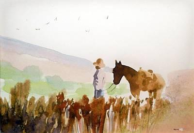 Alone Again Art Print by Ed  Heaton