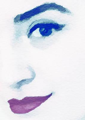 Almost Blue Art Print by Susan Leggett