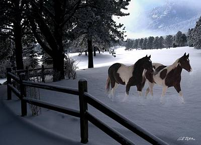 Horse Snow Photograph - Almost Christmas by Bill Stephens