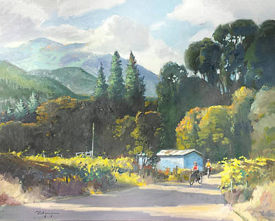 Napa Valley Vineyard Painting - Almost Evening by Paul Youngman